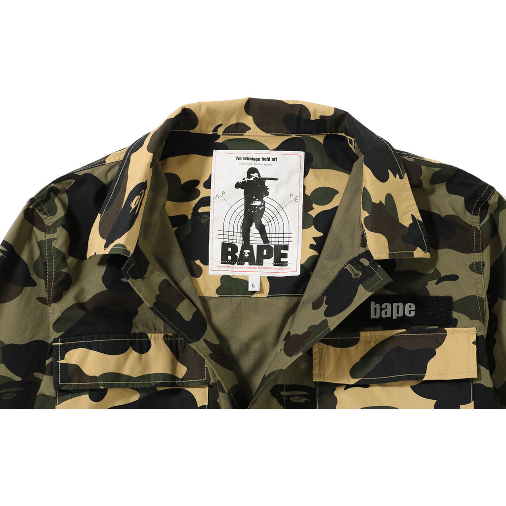 bc7c7257 1ST CAMO MILITARY SHIRT MENS | us.bape.com
