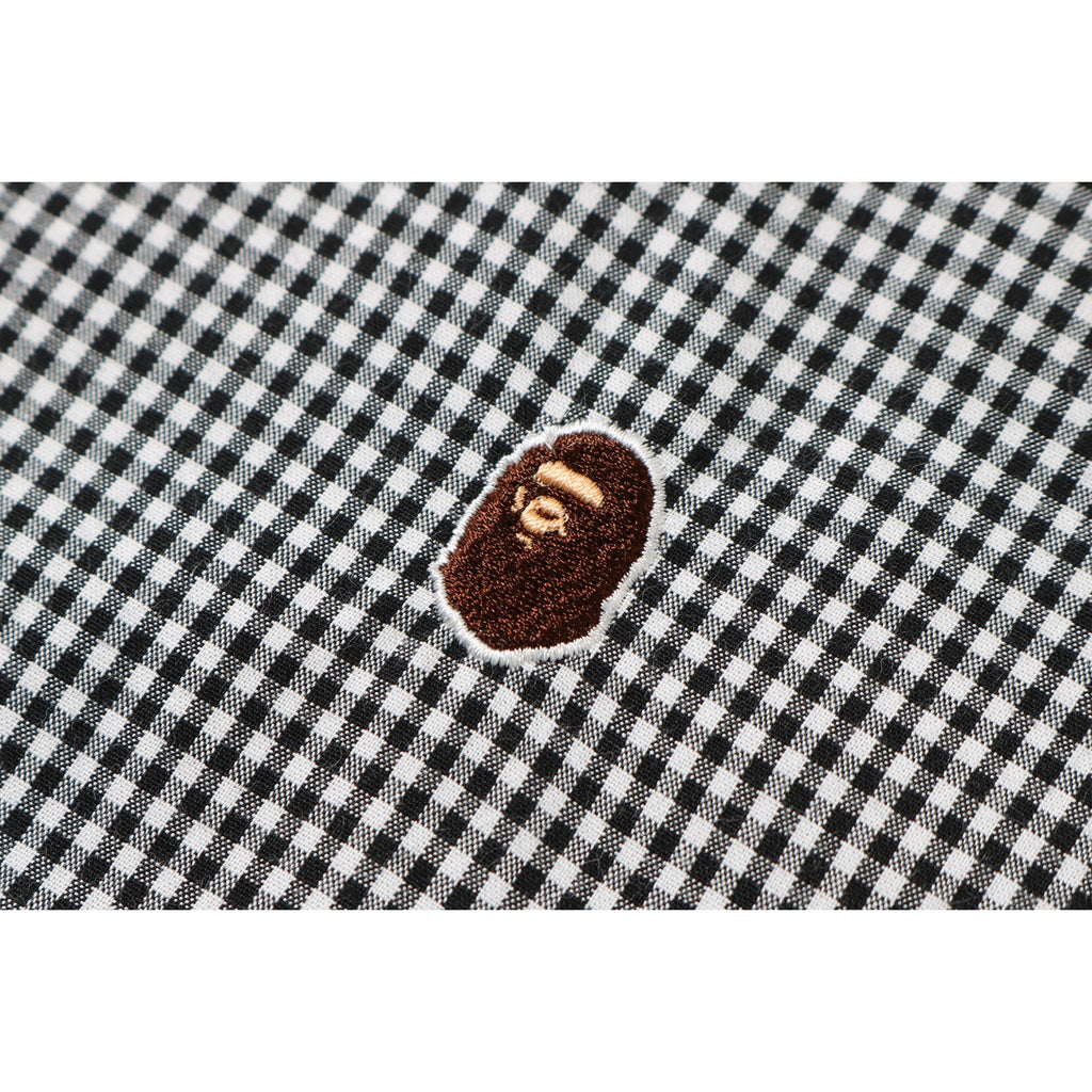FLOWER COLLEGE GINGHAM CHECK SHIRT LADIES
