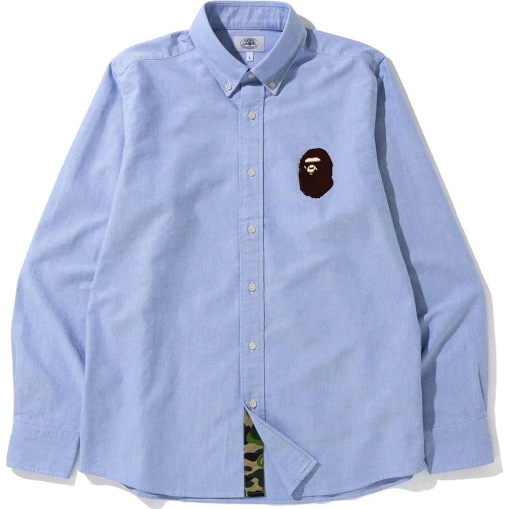 LARGE APE HEAD OXFORD BD SHIRT MENS