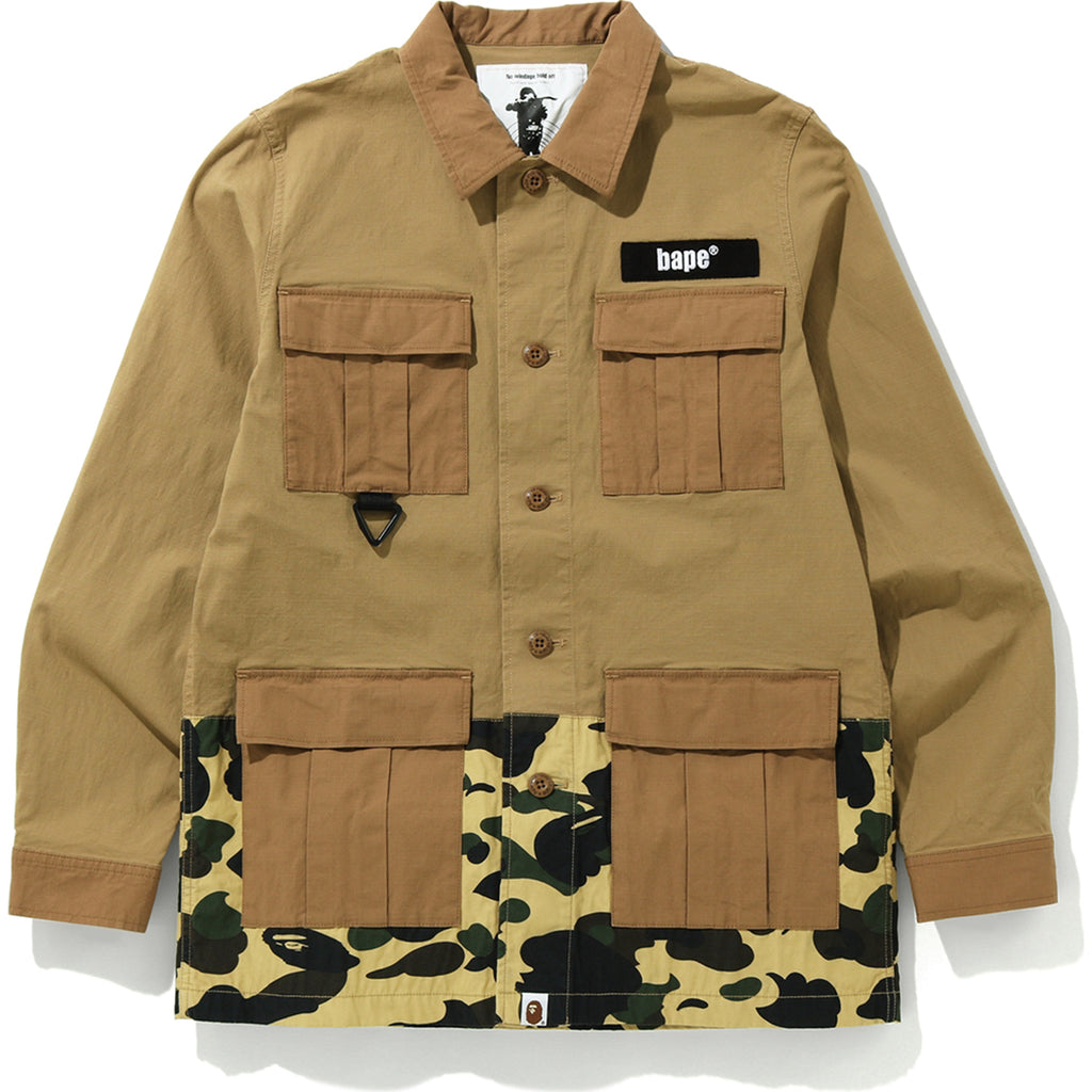 1ST CAMO MILITARY SHIRT MENS
