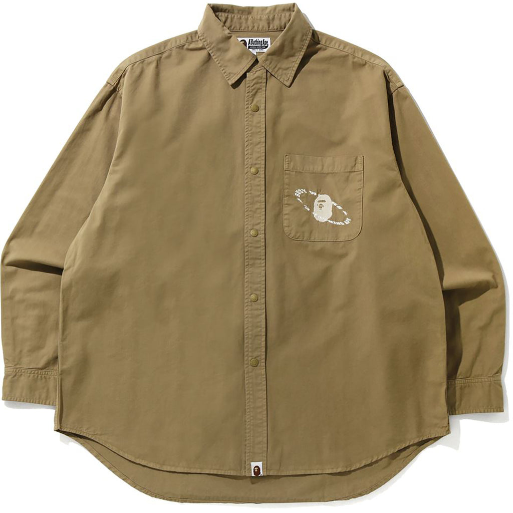 WASHED TWILL LOOSE FIT SHIRT MENS