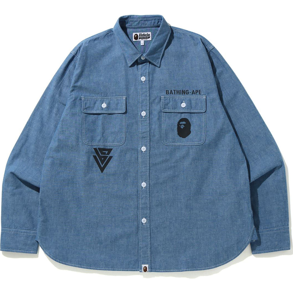 CHAMBRAY RELAXED SHIRT MENS
