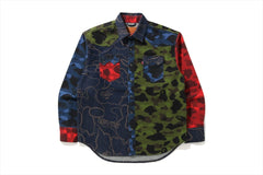 BAPE X LEVI'S MULTICOLOR CAMO SHIRT MENS