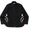 SIDE SHARK DENIM SHIRT MENS
