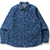 SHARK PATTERN DENIM SHIRT MENS