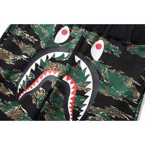 TIGER CAMO SHARK SWEAT SHORTS