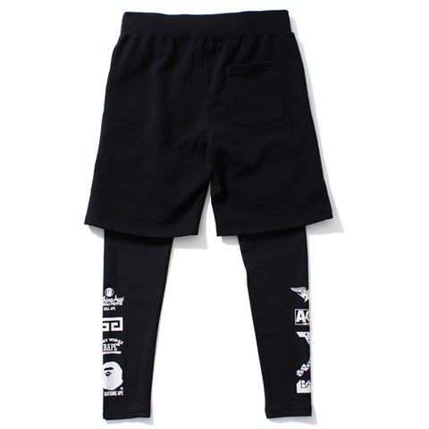 MULTI LOGO SWEAT SHORTS & LEGGINGS