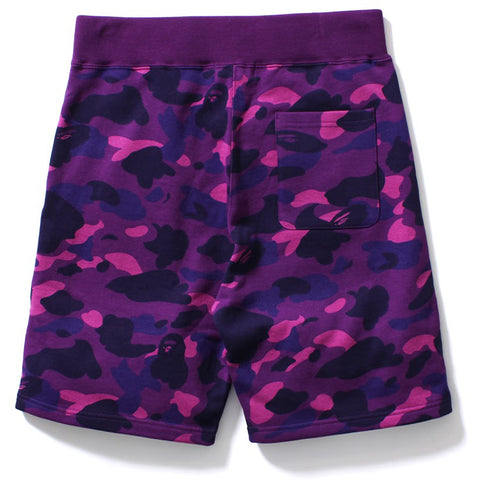 COLOR CAMO SWEAT SHORTS