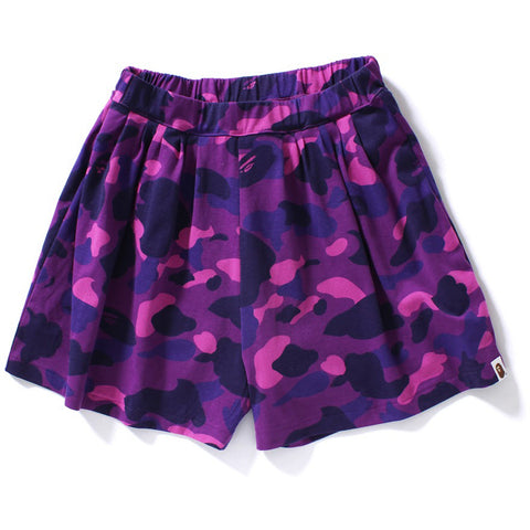 COLOR CAMO CULOTTE SHORTS /L
