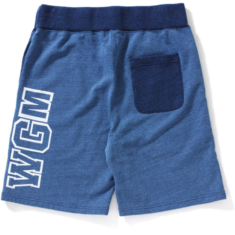 INDIGO SWEAT SHORTS MENS