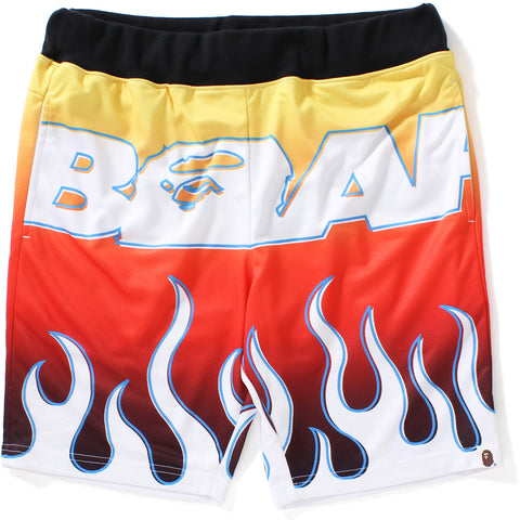 BAPE FLAME AOP SHORTS MENS