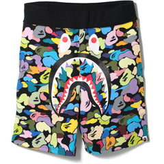 MULTI CAMO SHARK SWEAT SHORTS MENS
