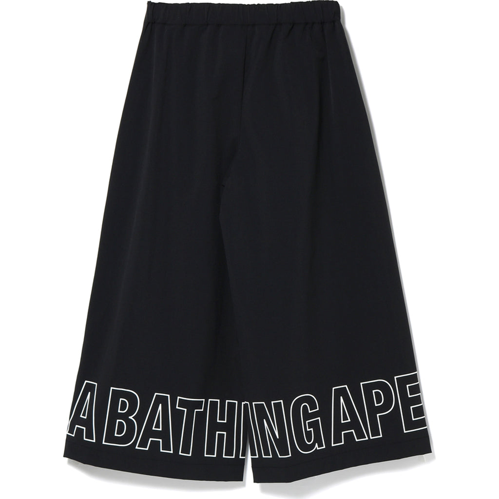 APE HEAD KNEE LENGTH WIDE PANTS LADIES