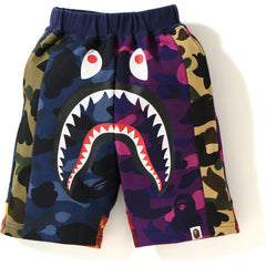 MIX CAMO CRAZY SHARK SWEAT SHORTS KIDS
