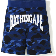 COLOR CAMO SWEAT SHORTS MENS