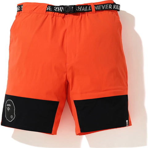 COLOR BLOCK NYLON BELT SHORT MENS