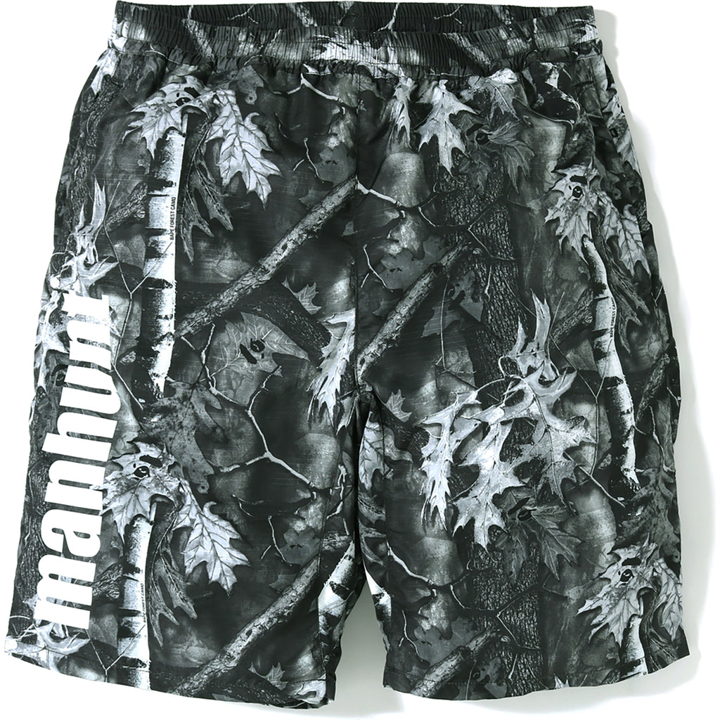 BAPE FOREST CAMO TRACK SHORTS MENS