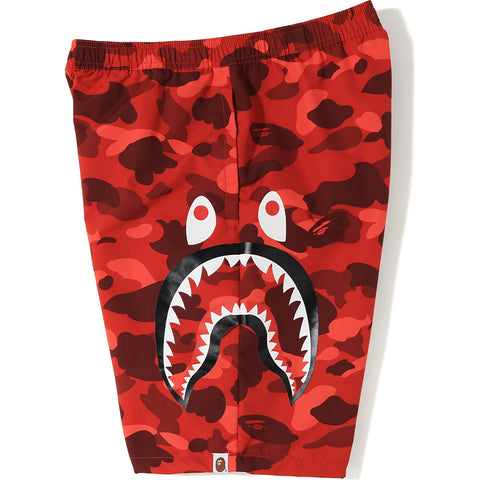 COLOR CAMO SIDE SHARK BEACH PANTS MENS