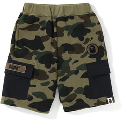 1ST CAMO 6POCKET SWEAT SHORTS KIDS