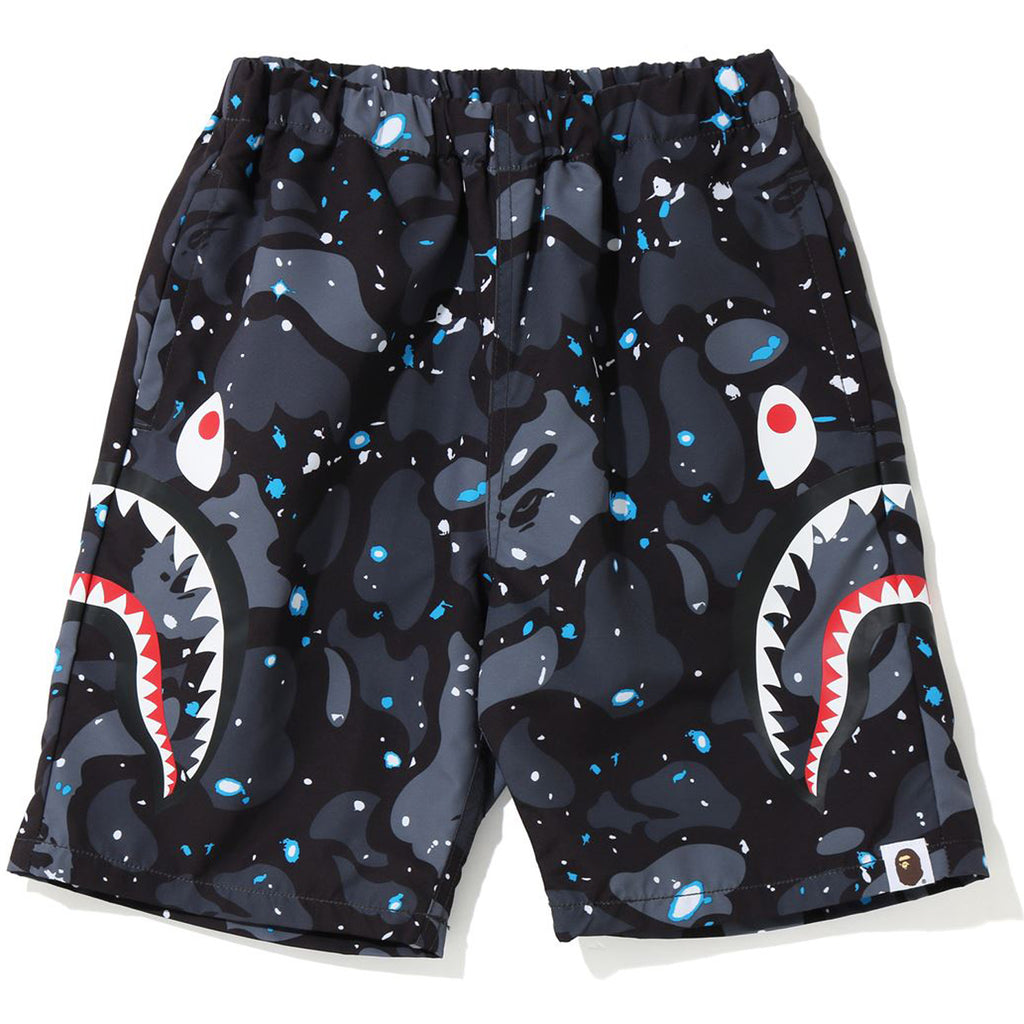 SPACE CAMO SIDE SHARK BEACH PANTS KIDS