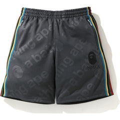 A BATHING APE SIDE TAPE JERSEY SHORTS MENS