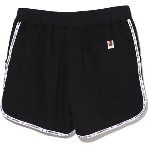 LOGO TAPE SWEAT SHORTS LADIES