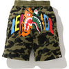 BAPE X READYMADE TIGER SHARK WIDE SWEAT SHORTS MENS
