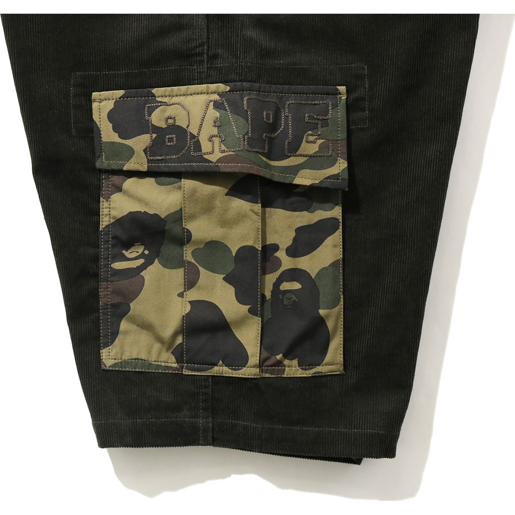 1ST CAMO CORDUROY WIDE 6POCKET SHORTS MENS