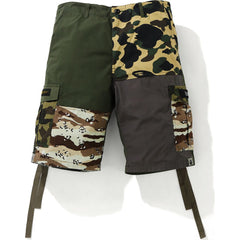 CRAZY CAMO 6 POCKET WIDE SHORTS MENS