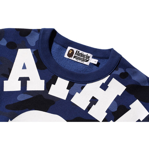 COLOR CAMO BIG COLLEGE CREWNECK