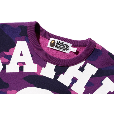 COLOR CAMO BIG COLLEGE CREWNECK /L
