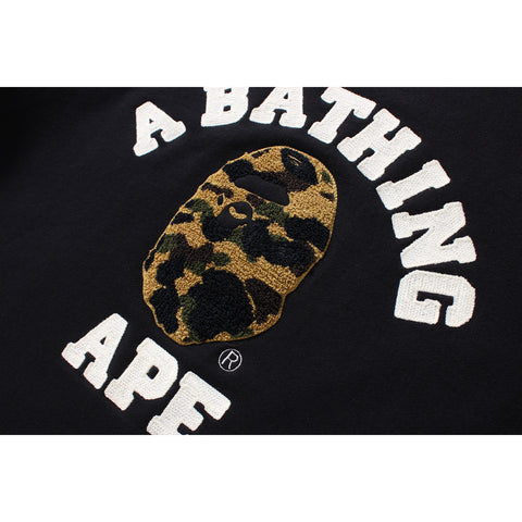1ST CAMO COLLEGE EMBROIDERY CREWNECK MENS