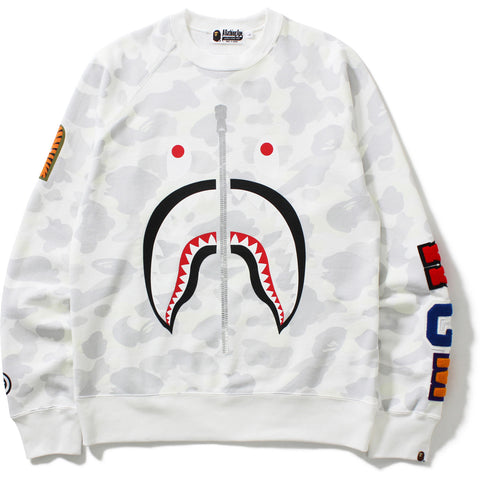 CITY CAMO SHARK CREWNECK MENS