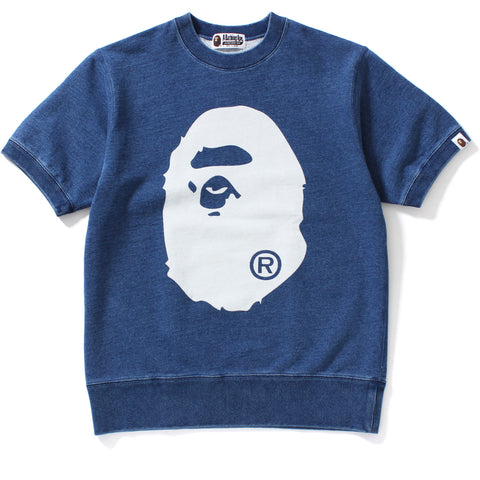 INDIGO BIG APE HEAD CREWNECK SS MENS