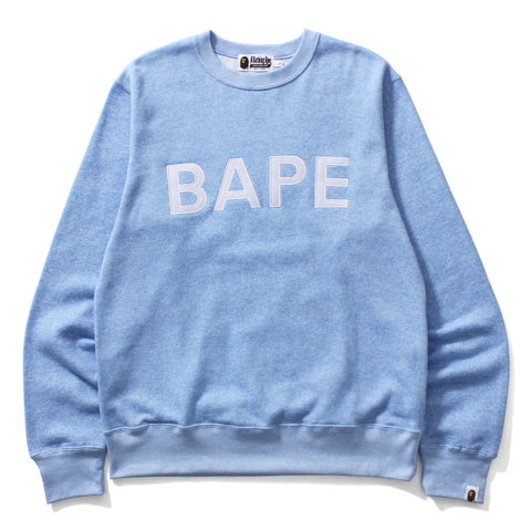 HEATHER GRAY BAPE APPLIQUE CREWNECK MENS