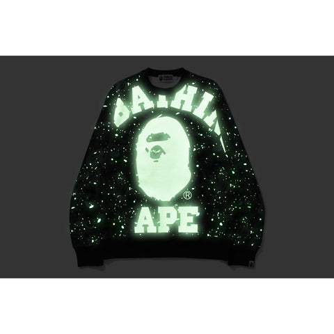 SPACE CAMO BIG COLLEGE CREWNECK MENS