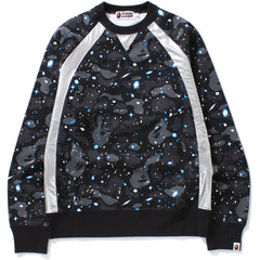SPACE CAMO RAGLAN CREWNECK MENS