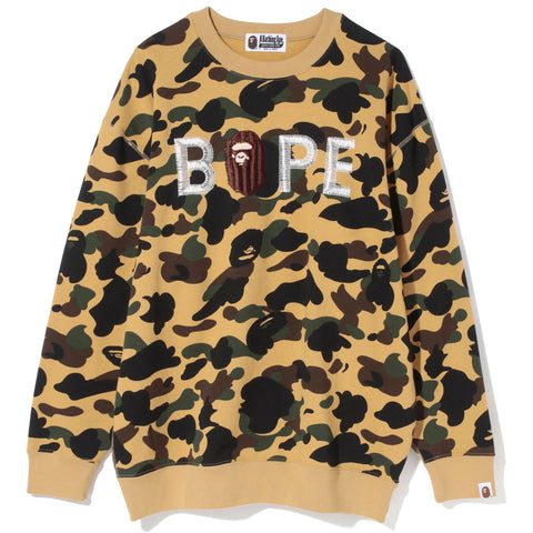 1ST CAMO EMBROIDERY OVERSIZED CREWNECK LADIES