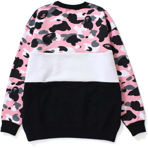 WARM UP CAMO OVERSIZED CREWNECK LADIES