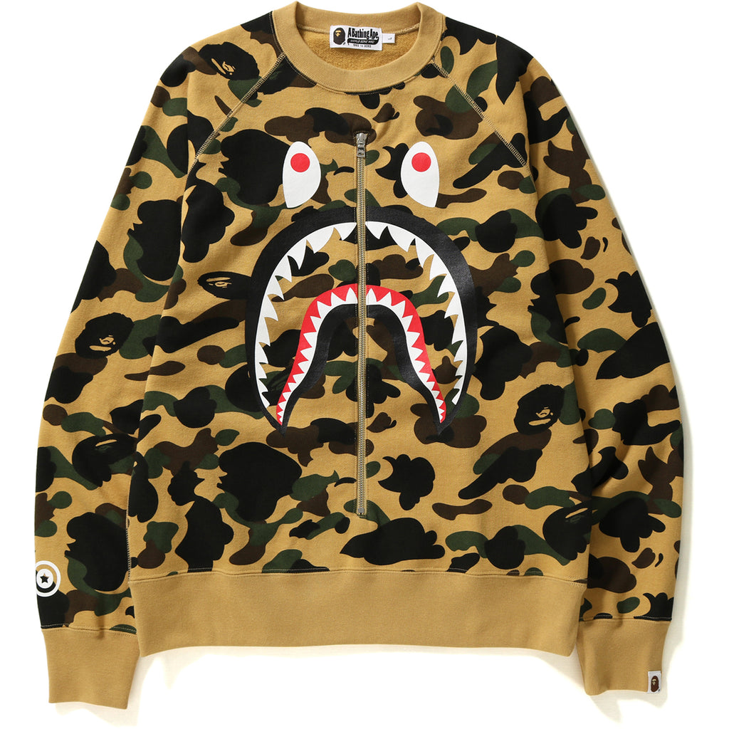 St Camo Shark Crewneck Mens