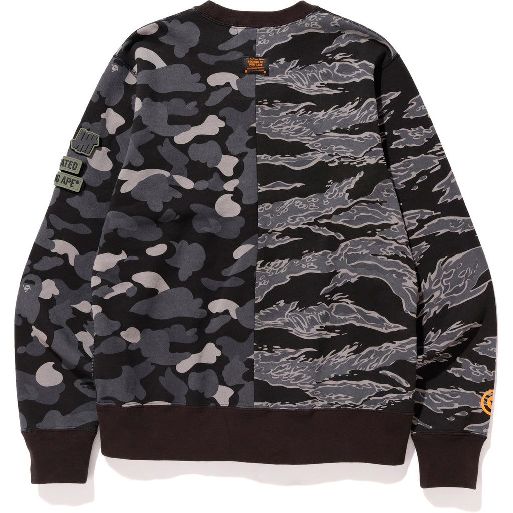 3cd101a76fc5 ... BAPE X UNDFTD TIGER SHARK HALF CREWNECK MENS