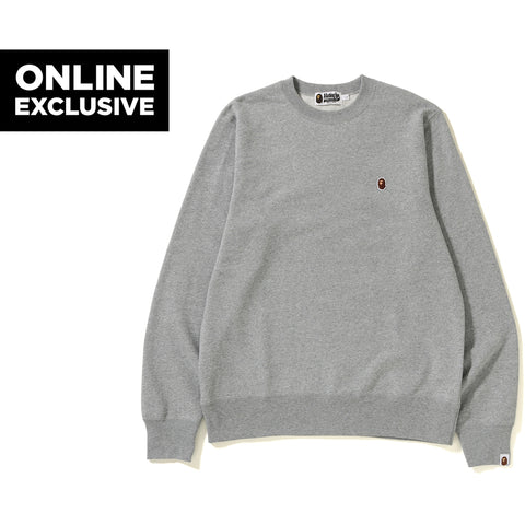 ONE POINT CREWNECK M BAPEC MENS