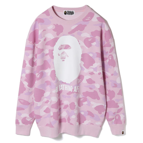 PASTEL COLOR CAMO OVERSIZED CREWNECK LADIES