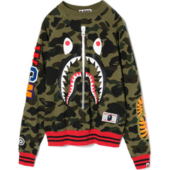 1ST CAMO SHARK WIDE CREWNECK LADIES