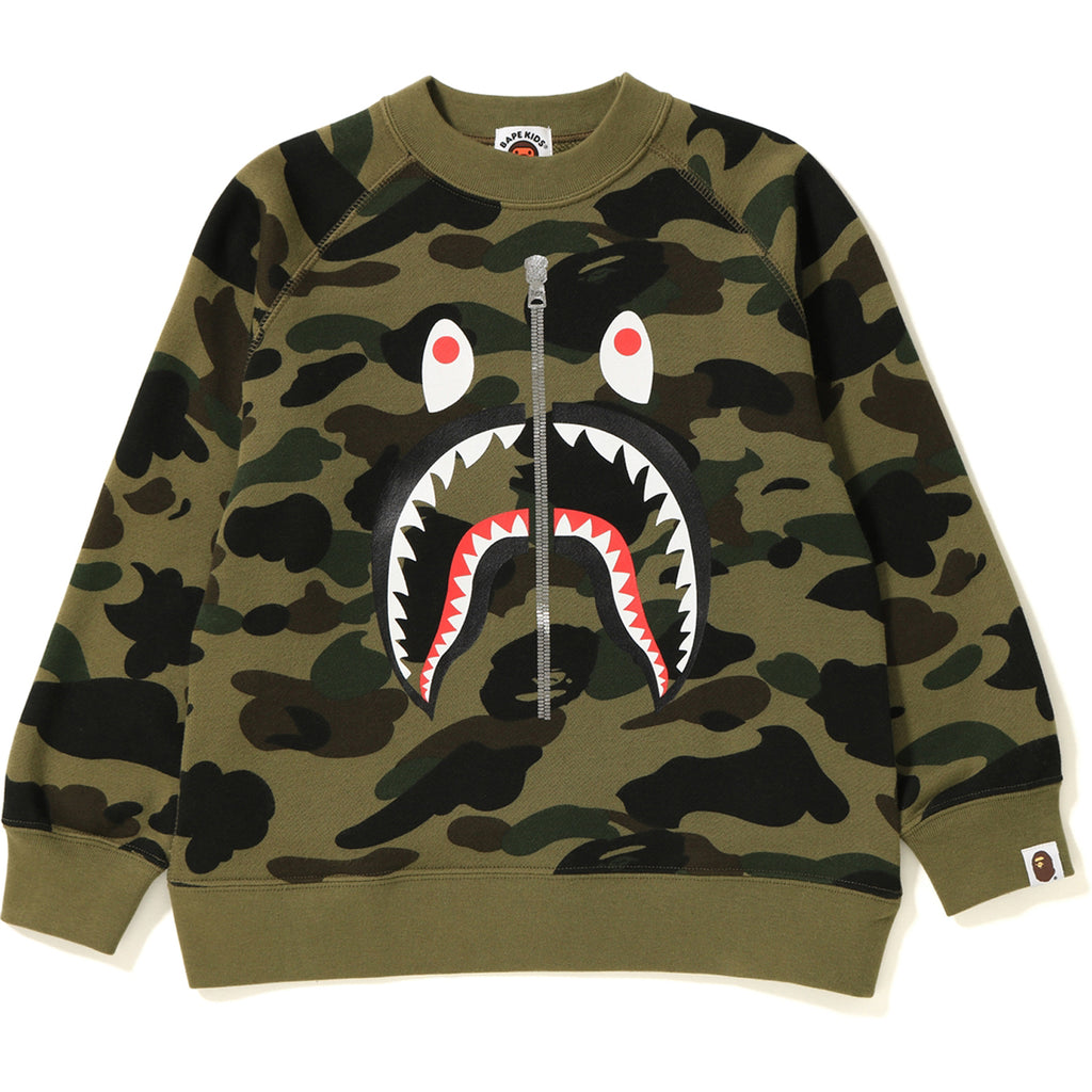 1ST CAMO SHARK CREWNECK KIDS