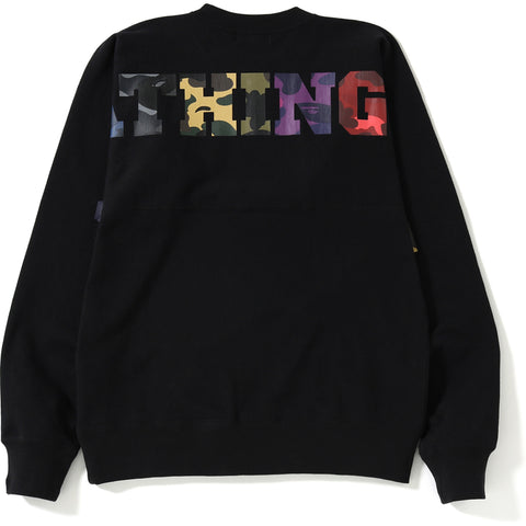 ONE POINT MIX CAMO BIG LOGO CREWNECK MENS