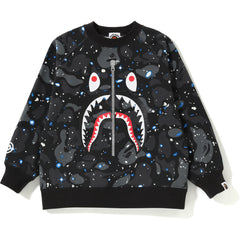 SPACE CAMO SHARK CREWNECK KIDS