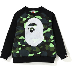 1ST CAMO NEON BIG APE HEAD CREWNECK KIDS