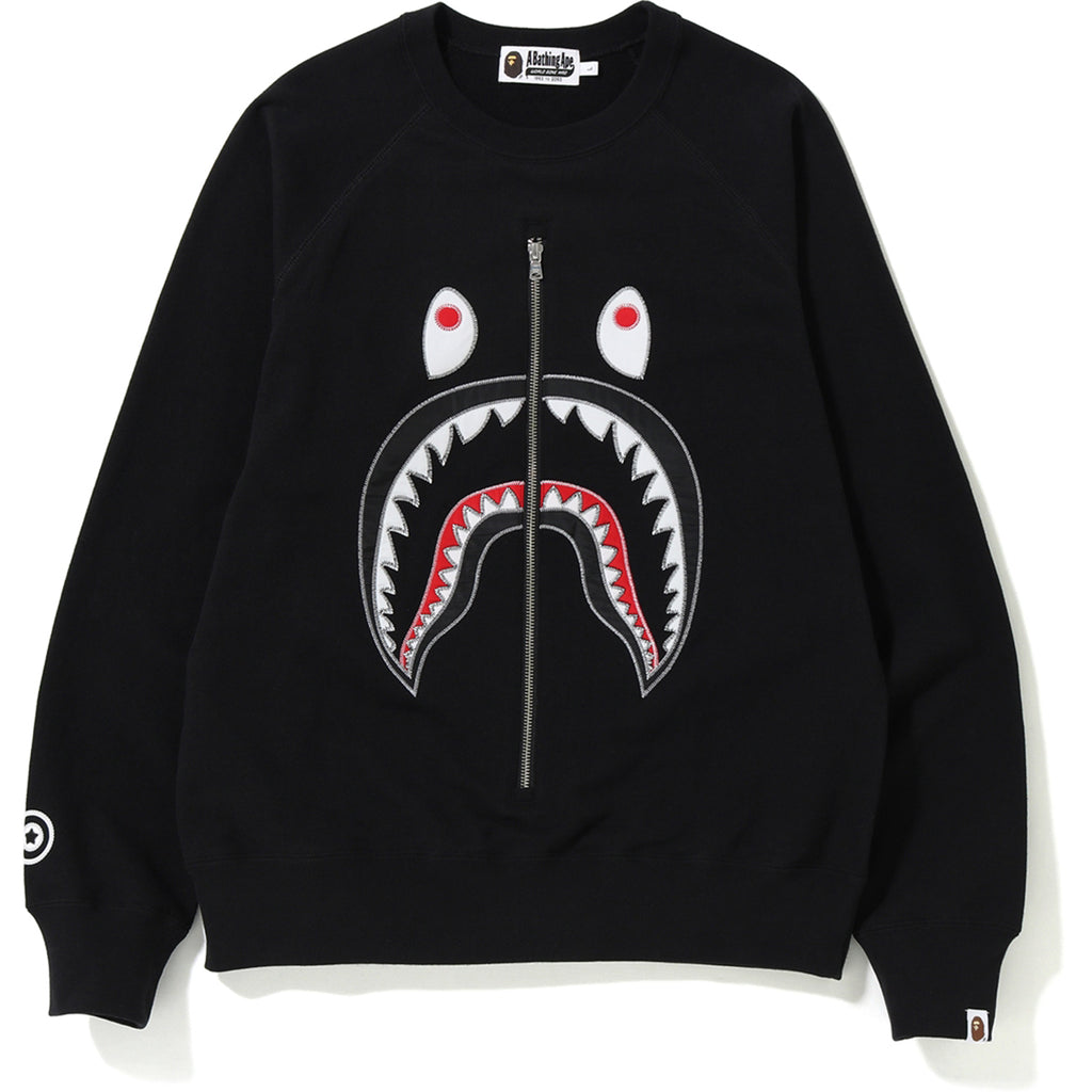 APPLIQUE SHARK CREWNECK MENS