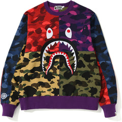 MIX CAMO SHARK CRAZY WIDE SWEAT MENS